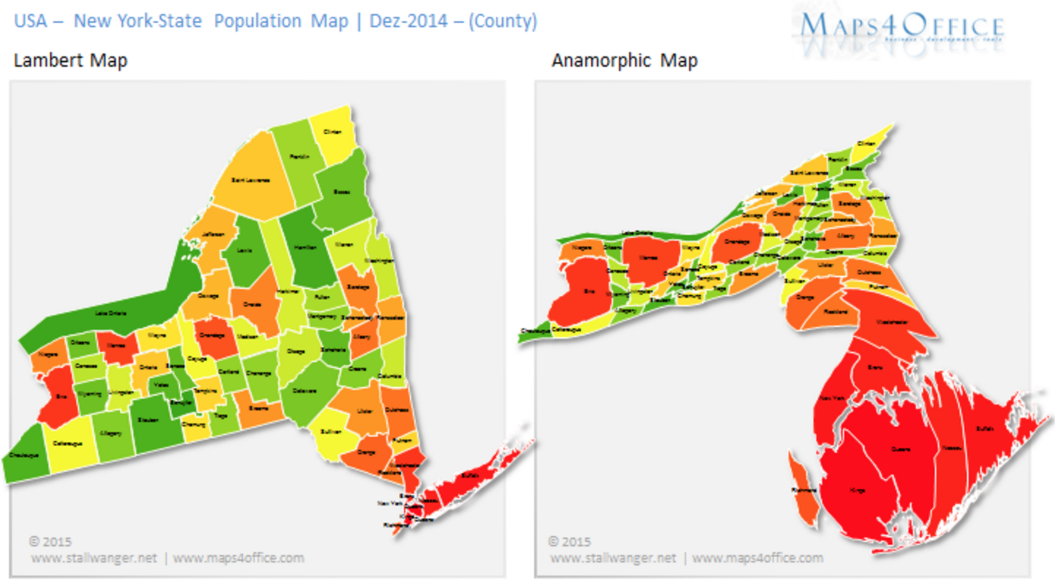 New York Population Map Map